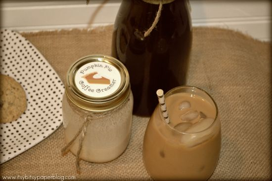 Homemade Pumpkin Pie Coffee Creamer