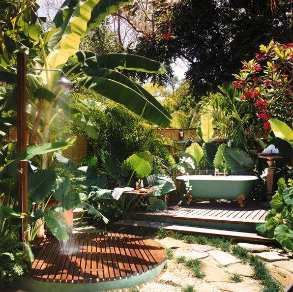Salle de bain, hôtel Goldeneye, Jamaïque