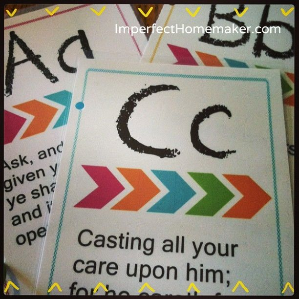 Printable ABC Bible Verses - love these!