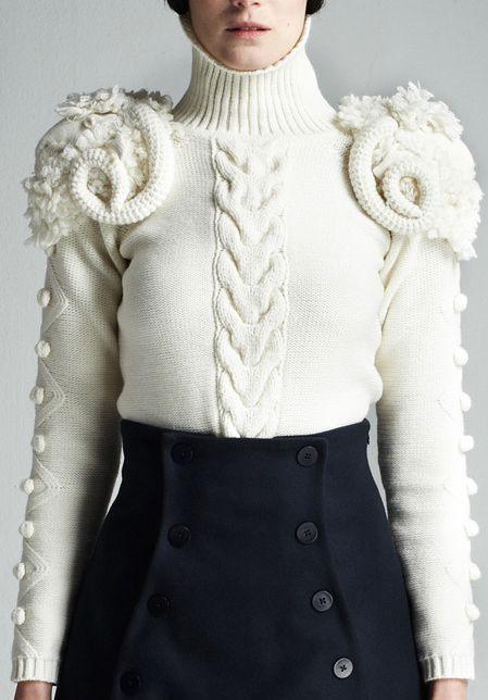A.W.A.K.E. by Natalia Alaverdian Fall 2013 Pullover  #pullover #newclothes #sweater #watsonlucy723 # jamesfaith712  #womenfashion  <3  www.2dayslook.com