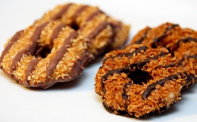 ... Caramel Delights vs. Samoas | Caramel Delights, Caramel and Girl Scout