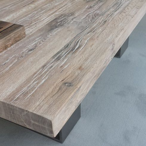 Whitewash Oak Furniture | Modena Slid Oak White Wash Coffee