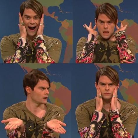 Saturday Night Live perfection Bill Hader... Stephan will be soooooo missed, truly genius.