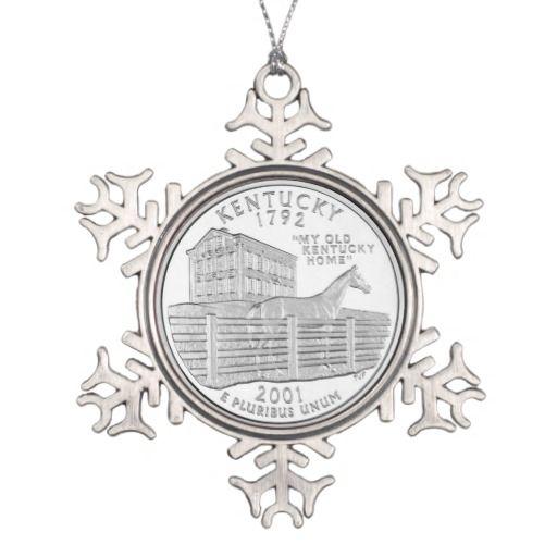 Kentucky State Quarter Ornaments