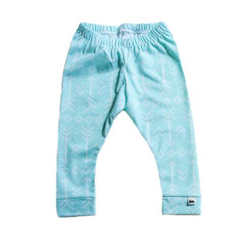 Leggings - Stitched Arrow on Aqua - Little & Lively - 1
