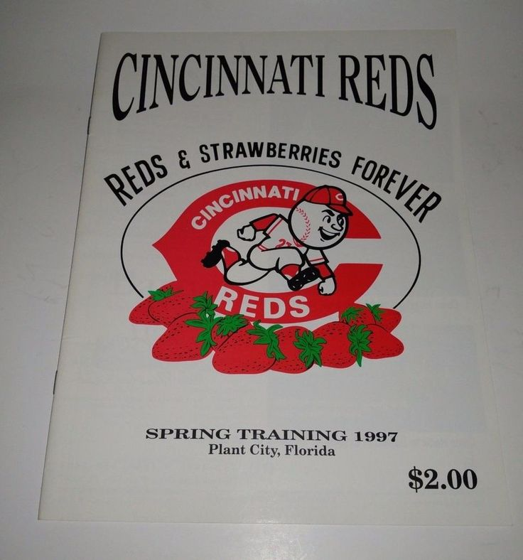 1997 Cincinnati Reds Spring Training Program Unscored Plant City Florida  | eBay