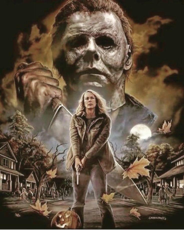 Halloween (2018) Horror movie art, Scary movies, Horror