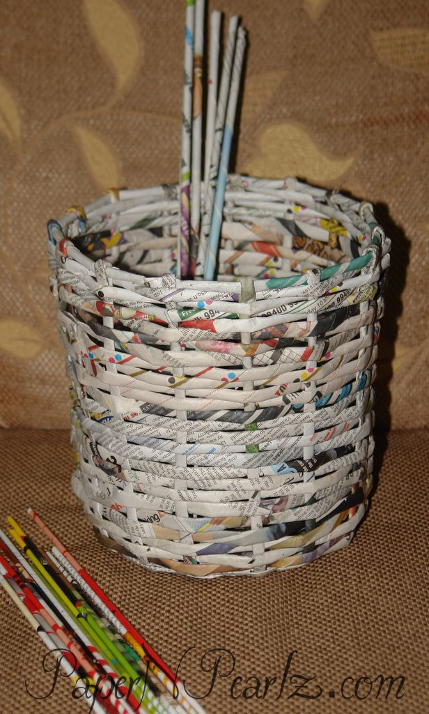 Paper Weaving - Basket and tutorial