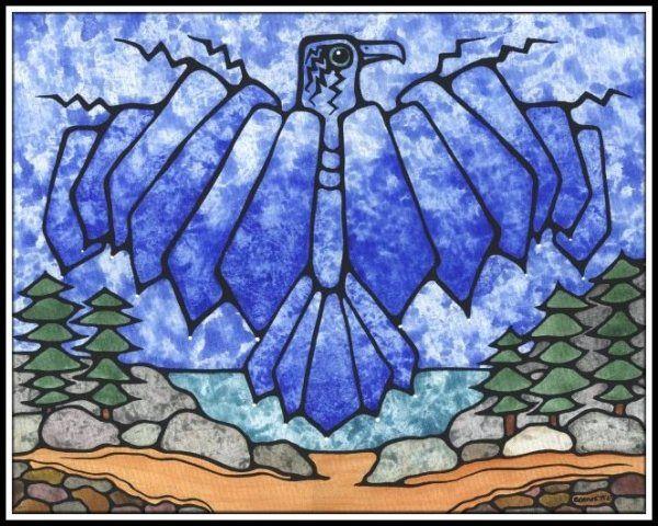 Ayla Bouvette - Metis Art - Blue ThunderBird
