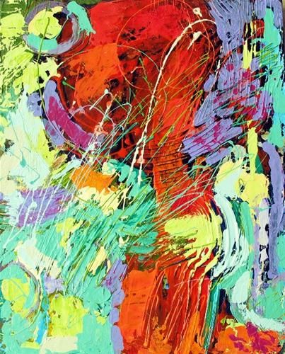 """Original Fine Art For Sale: """"The Dance, Textured Abstract 12071"""""""