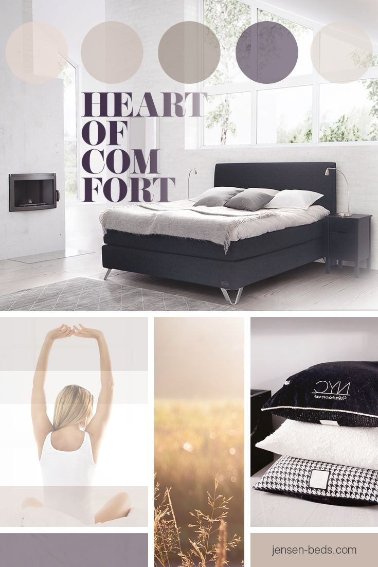 Heart of Comfort. The ultimate feeling of relaxation when sleeping in a Jensen bed. Visit our homepage for information about our bed collection http://jensen-beds.com/ Photo: http://anettewillemine.com/