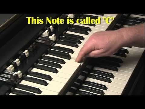 HAMMOND ORGAN FOR BEGINNERS LESSON #1 - B3 and C3 - KEYBOARDS