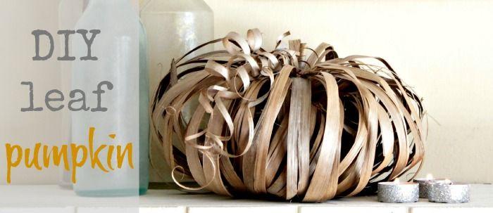 fall pumpkin craft, use any long leaf or maybe jute twine or raffia