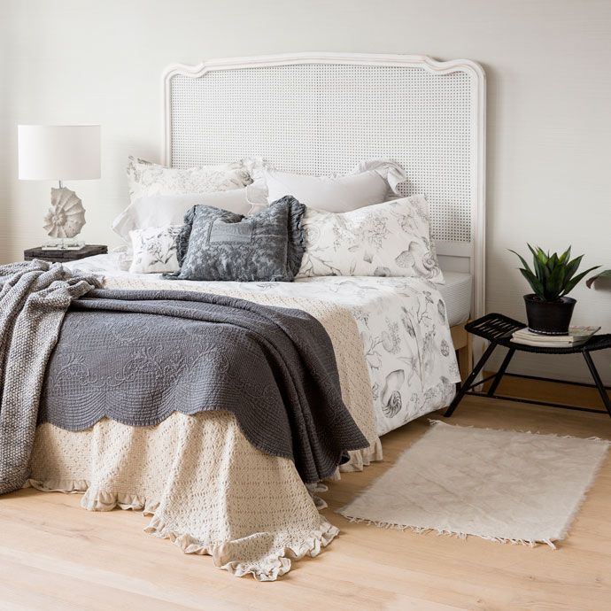 GRAY WASHED DENIM CUSHION COVER AND QUILT - Quilts - Bedroom   Zara Home United States of America