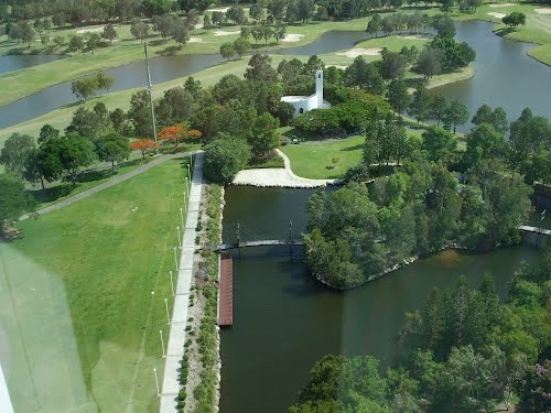 Aerial View of the Private Chapel, Royal Pines Resort, Gold Coast