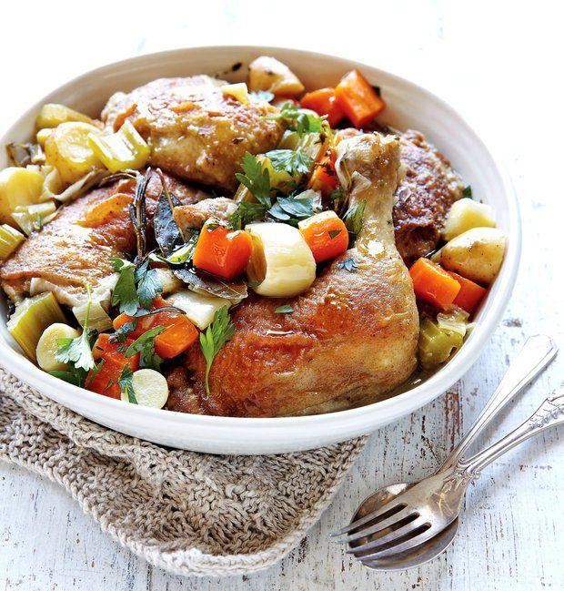 Babiččino jarní dušené kuře , Foto: kuchařka Jednoduchý stůl