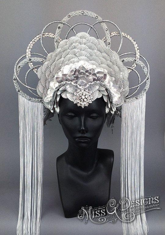 Faux Feather Headdress by MissGDesignsShop on Etsy