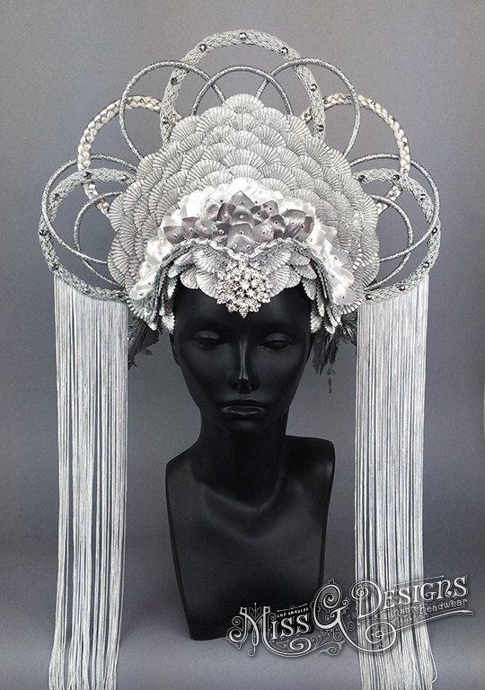 Faux Feather Headdress by MissGDesignsShop on Etsy