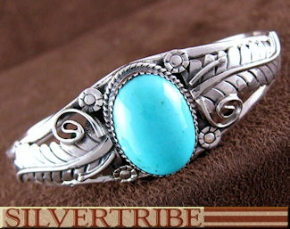 Southwest Turquoise Jewelry Genuine Sterling Sterling Silver Bracelet NS55006