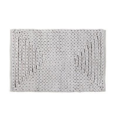 RJR.John Rocha Designer grey plaited bath mat | Debenhams