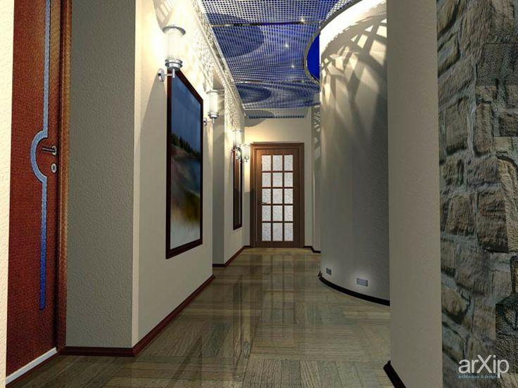коридор второго этажа двухуровневой квартиры: интерьер, квартира, дом, гостиная, современный, модернизм, стена, 10 - 20 м2 #interiordesign #apartment #house #livingroom #lounge #drawingroom #parlor #salon #keepingroom #sittingroom #receptionroom #parlour #modern #wall #10_20m2 arXip.com
