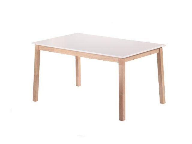 NORDQVIST Bord 140 Natur/Vit i gruppen Inomhus / Bord / Matbord hos Furniturebox (100-22-62504)