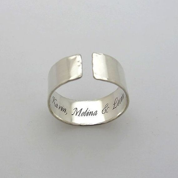 Secret Message Ring  Personalized Sterling by EngravedJewelry