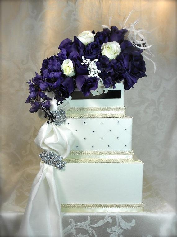 Custom Wedding Card Box Unique Money Holder By WrapsodyandInk 13200