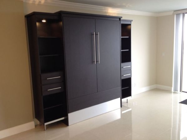 Wengue Contemporary Murphy Bed | http://murphybedsales.com - wengue contemporary murphy bed #37