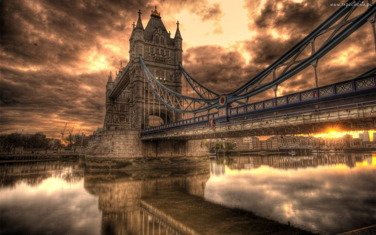 Londyn, Zachód Słońca, Most