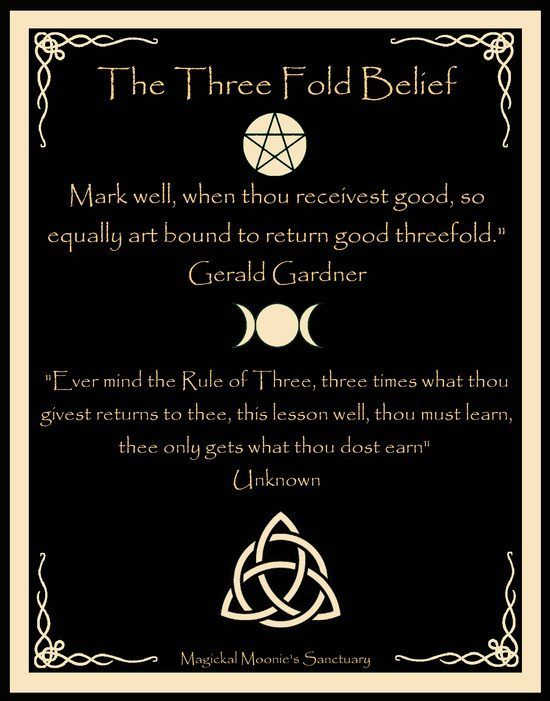 ☆ The Three Fold Belief ☆