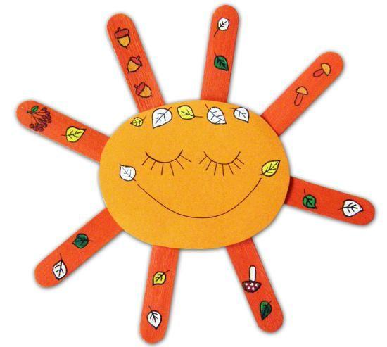 slunce ze špachtlí a čtvrtky