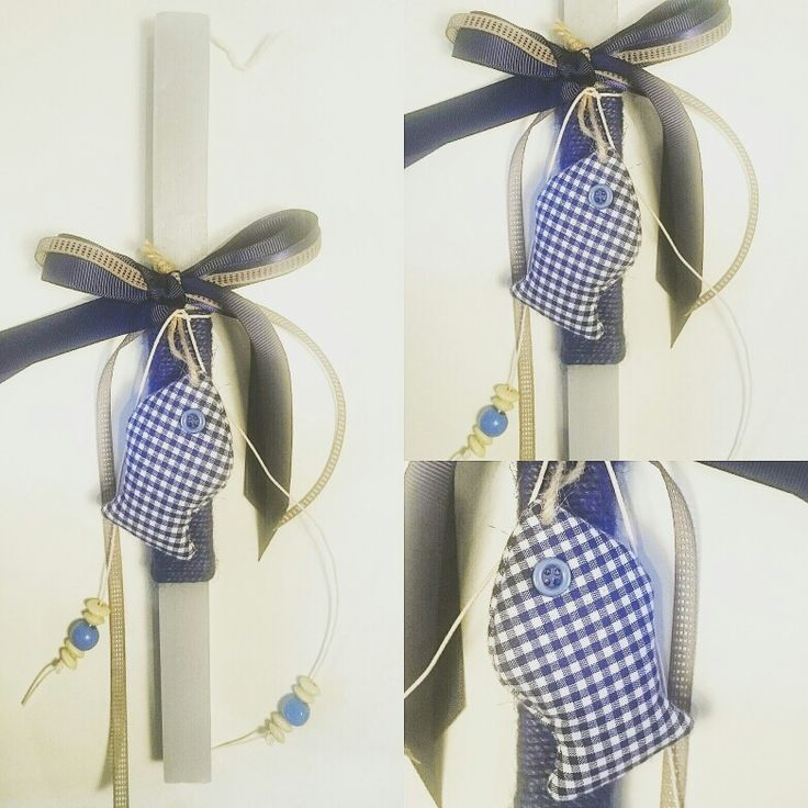 Boy's Easter Candle-Navy theme