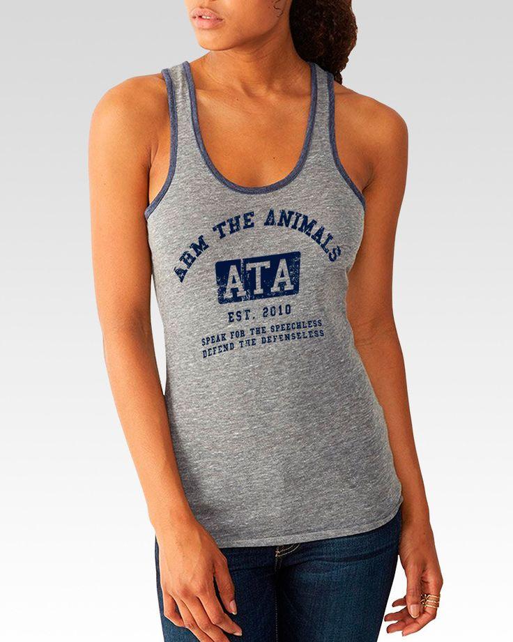 Women's | ATA College Logo | Tri-Blend Ringer Tank Arm The Animals Clothing #armtheanimals www.armtheanimals.com