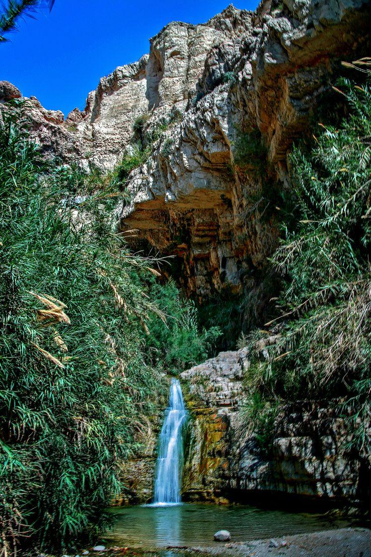 One of King David's Falls . Israel