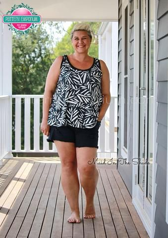 Sew a sleeveless trapeze for summer by Pattern Emporium