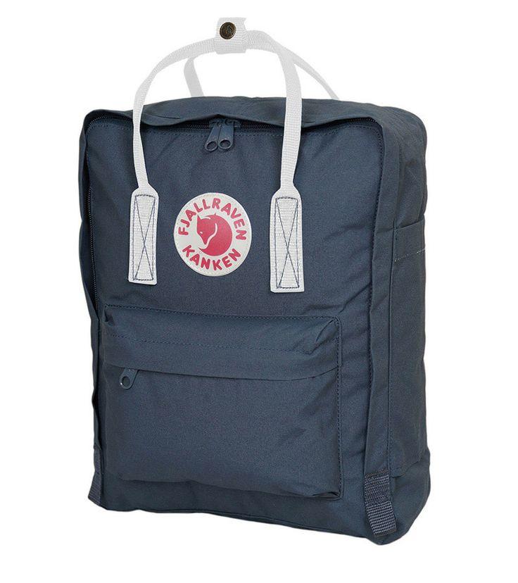 Fjallraven Classic Kanken Backpack Bag Navy And White