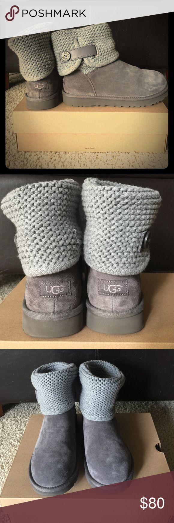 Women's UGG Boots - Shaina - size 8 Women's UGG Boots - Shaina - size 8 - GREY - LIKE NEW! - only worn twice - original box/packaging UGG Shoes Winter & Rain Boots