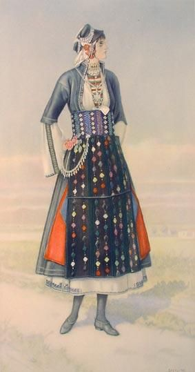 Macedonia Greek Costume Roumlouki