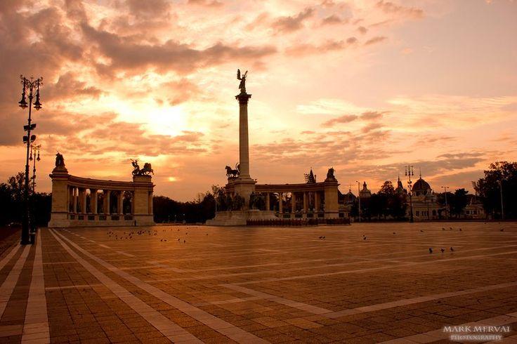 Budapest, Hősök tere.