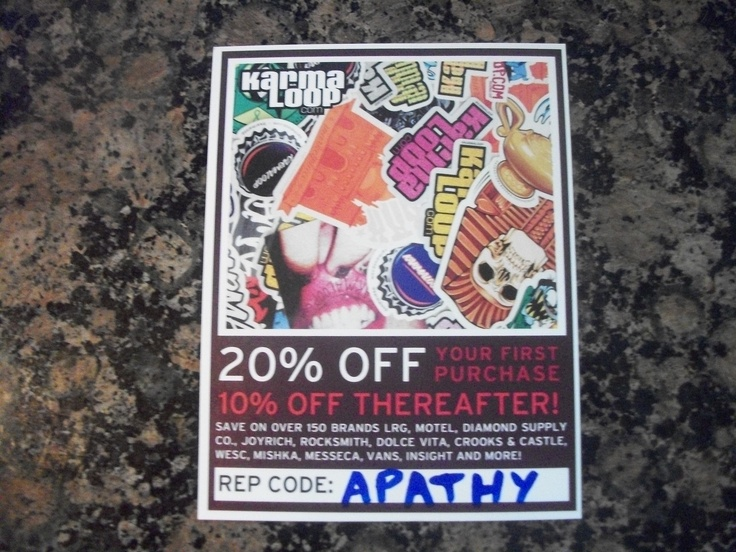 Get fly for spring and summer. Use rep code: APATHY to save 21% off your entire order at karmaloop.com