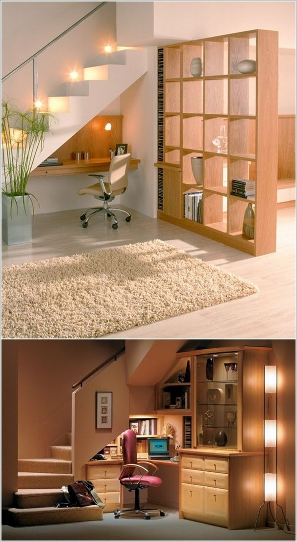 Ideas para aprovechar el espacio debajo de las gradas.
