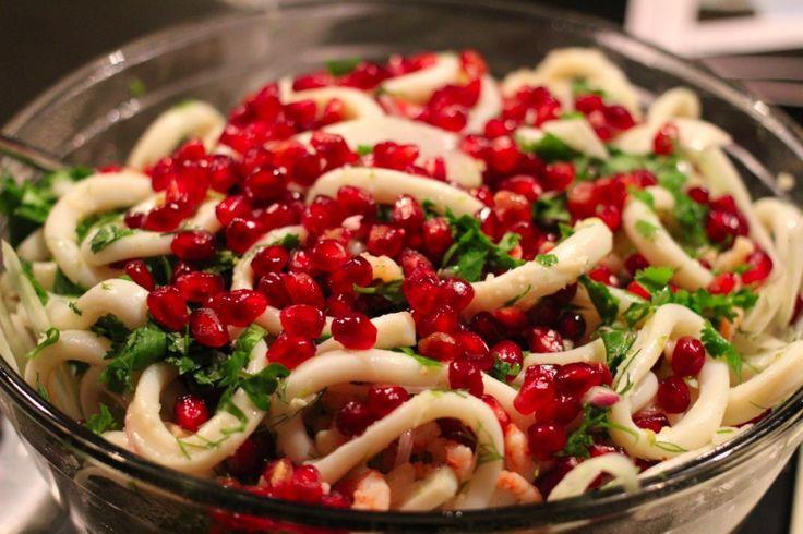 calamari-pomegranate-salad