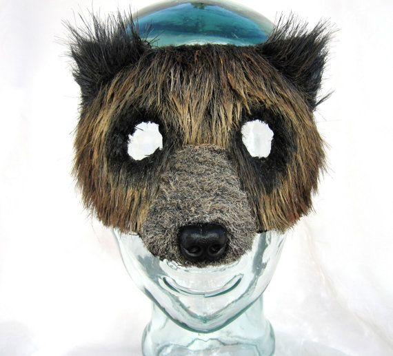 Woodland Brown Bear Mask Grizzly Bear Mask by FemaleArtCollective, $39.00