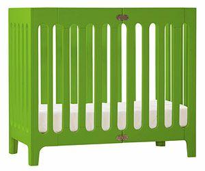 Our Picks for Transitional Cribs: Fold-Away Crib (via Parents.com) Signature color.