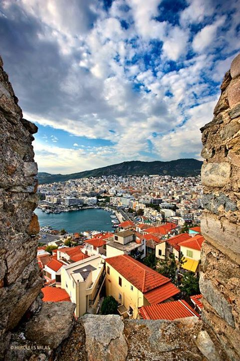 View of Kavala from its castle. Macedonia, Greece #kitsakis <3
