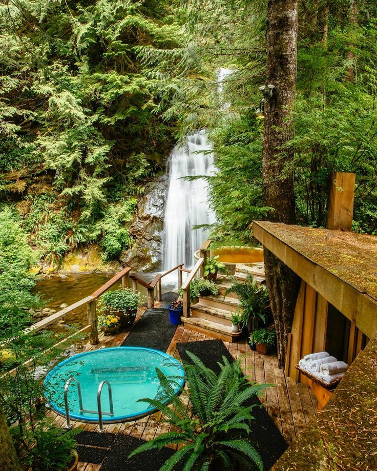 Talk about a spa.. Nimmo Bay Wilderness Resort in Canada let's you unwind and relax in nature. | Photo: Jeremy Koreski