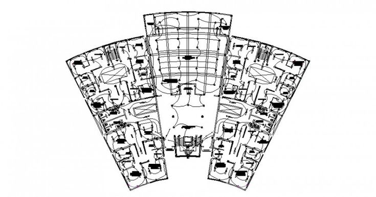 Electrical layout plan of the office detail drawing in dwg