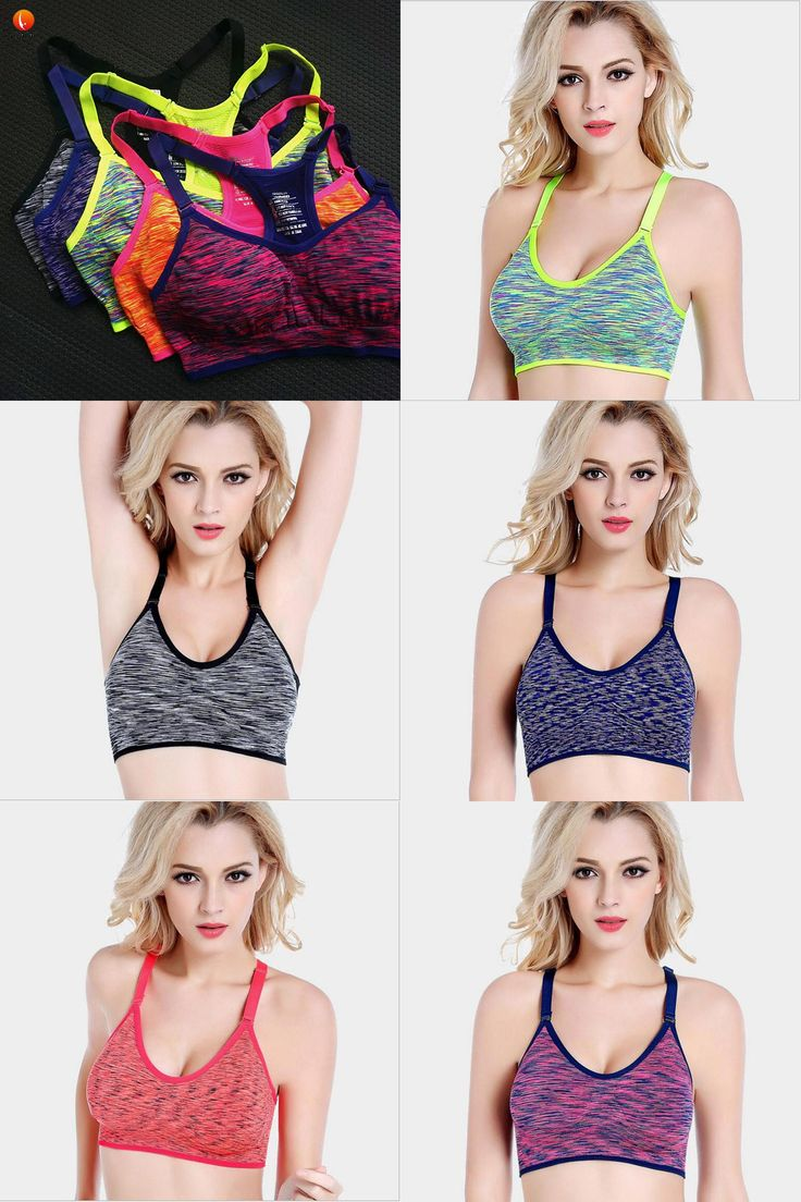 [Visit to Buy] Lijalai women sport bra sexy yoga top running shockproof padded push up high impact quick dry fitness clothing ladies sportswear #Advertisement