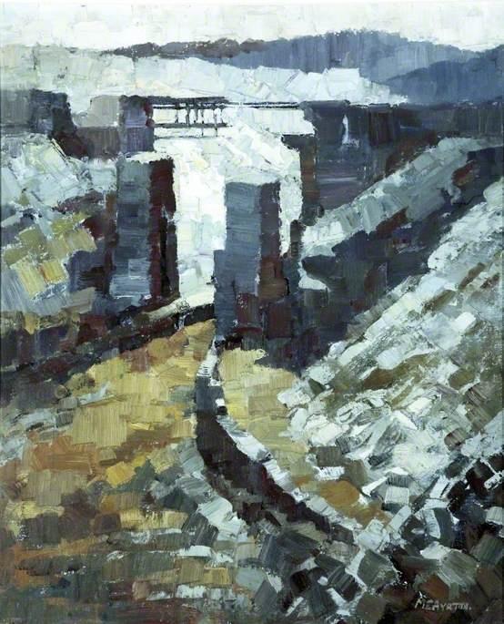 Slate Quarry, Blaenau Ffestiniog  by Millicent Emily Ayrton